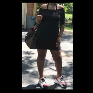 Black Off The Shoulder Bodycon Dress Size Large